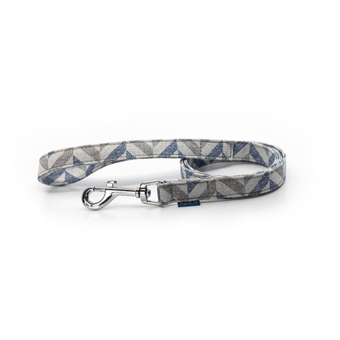 Project Blu Danube Dog Lead - Blue Chevron