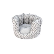 Goa Cat Bed- Grey Chevron
