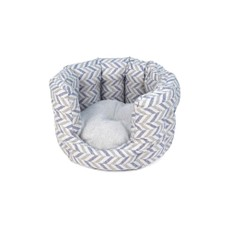 Danube Cat Bed Blue Chevron