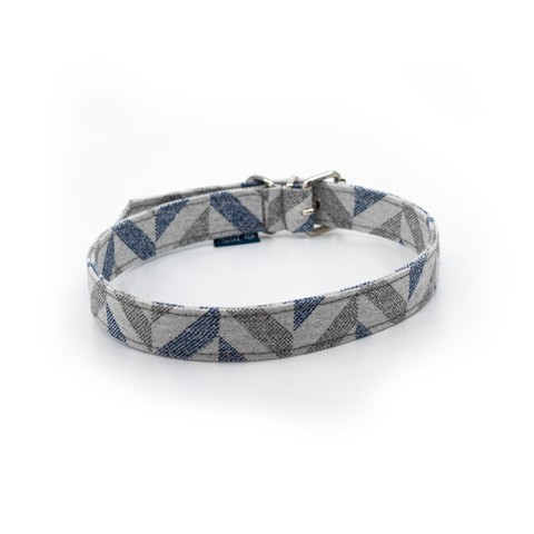 Delta Dog Collar Blue Chevron Large