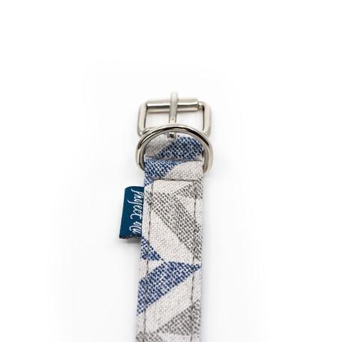 Danube Dog Collar - Blue Chevron L