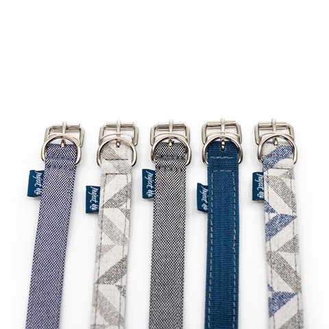Danube Dog Collar - Blue Chevron S