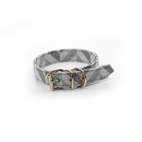 Goa Dog Collar - Grey Chevron L