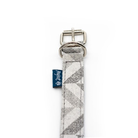 Gamma Dog Collar Grey Chevron Xl