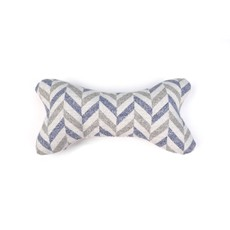 Goa Dog Bone Toy Grey Chevron One Size