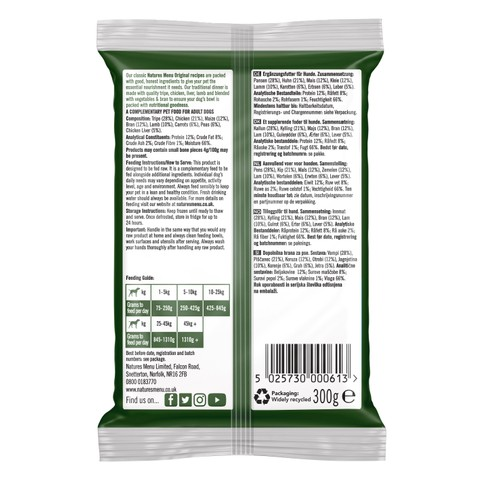 Natures Menu Frozen Dog Food Traditional Mince 12x300g