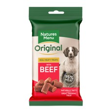 Natures Menu Real Meaty Dog Treat With Beef 60g