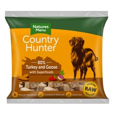Natures Menu Country Hunter Frozen Raw Turkey & Goose Dog Food Nuggets 1kg