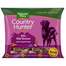 Natures Menu Country Hunter Frozen Raw Venison Dog Food Nuggets 1kg