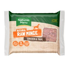 Natures Menu Minced Frozen Dog Food With Chicken And Tripe 12 X 400g