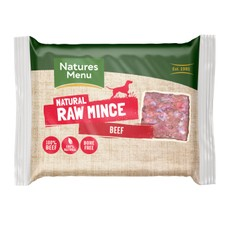 Natures Menu Minced Frozen Dog Food With Beef 12 X 400g