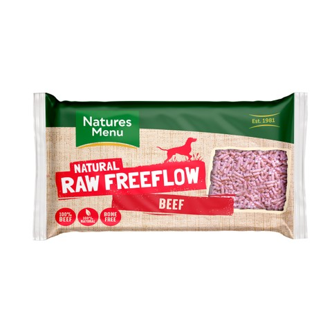 Natures Menu Free Flow Frozen Dog Food With Beef 2kg