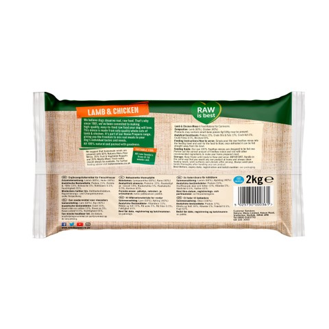 Natures Menu Free Flow Frozen Dog Food With Lamb And Chicken 2kg