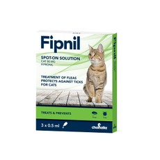 Fipnil Spot-on Solution For Cats 3 Pipettes