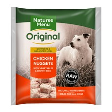 Natures Menu Frozen Dog Food Nuggets With Chicken, Vegetables And Rice 1kg