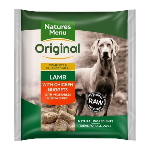 Natures Menu Frozen Dog Food Nuggets With Lamb Vegetables & Rice 1kg