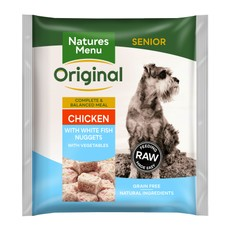 Natures Menu Frozen Dog Food Nuggets Senior With Chicken And Fish 1kg
