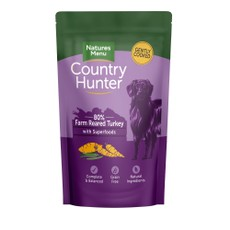Natures Menu Country Hunter Superfood Grain Free Turkey Dog Pouches 150g