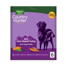 Natures Menu Country Hunter Superfood Grain Free Turkey Dog Pouches 6 X 150g