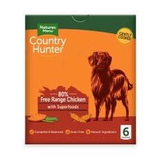 Natures Menu Country Hunter Superfood Grain Free Chicken Dog Pouches 6 X 150g