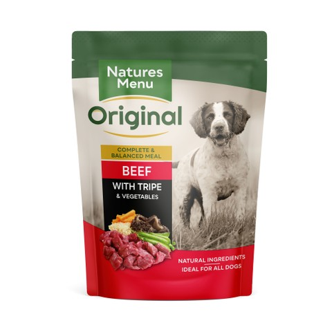 Natures Menu Dog Pouch With Beef & Tripe 8 X 300g