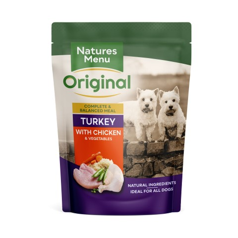 Natures Menu Dog Pouch With Turkey And Chicken 8 X 300g