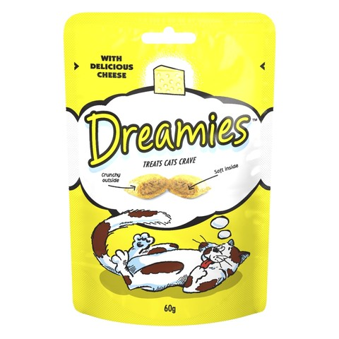 Dreamies With Delicious Cheese Cat Treats 60g