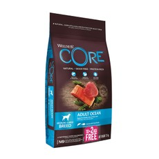 Wellness Core Ocean Fish Salmon And Tuna Grain Free Adult Dry Dog Food 10kg +2kg Free