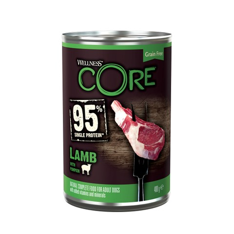Wellness Core 95% Lamb With Pumpkin Wet Adult Grain Free Dog Food 6 X 400g