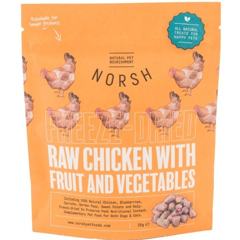 Norsh Raw Chicken With Fruit & Vegetables Treats 25g