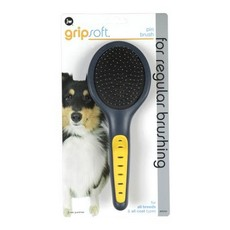 (d) Jw Gripsoft Grooming Pin Brush