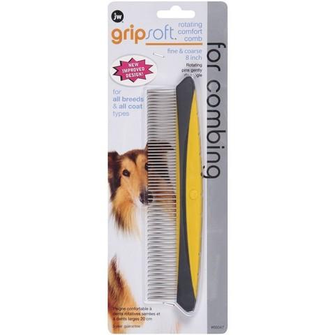 Jw Gripsoft Rotating Comfort Comb Fine/coarse 20cm