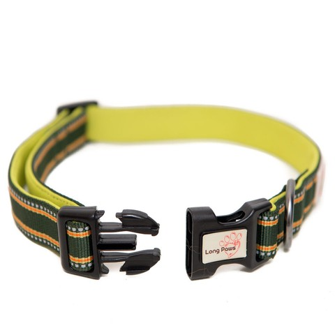 Long Paws Comfort Collection Collar Medium Green