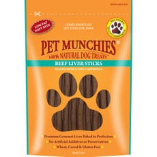 Pet Munchies Dog Treats - Beef Liver Sticks 90g