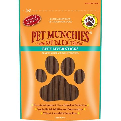 Pet Munchies Dog Treats - Beef Liver Sticks 90g