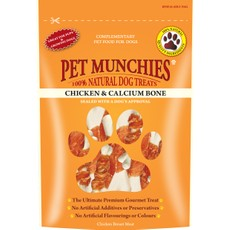 Pet Munchies Dog Treats - Chicken & Calcium Bones 100g