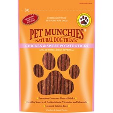 Pet Munchies Dog Treats - Chicken & Sweet Potato Sticks 90g