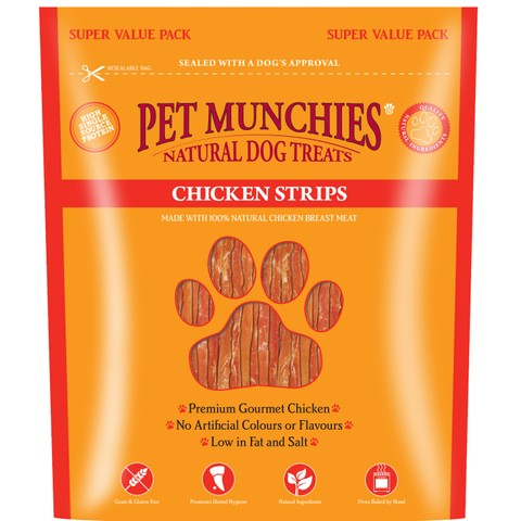 Pet Munchies Dog Treats - Chicken Strips 320g