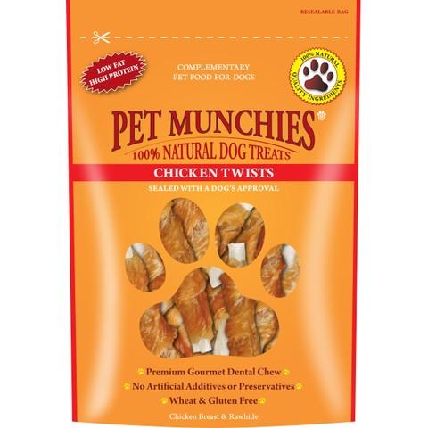 Pet Munchies Chicken Twists 80g