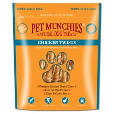 Pet Munchies Dog Treats - Chicken Twists 290g