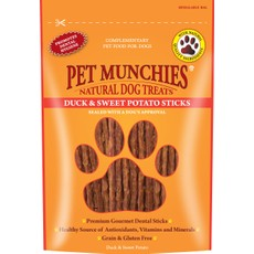 Pet Munchies Dog Treats - Duck & Sweet Potato Sticks 90g