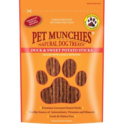 Pet Munchies Dog Treats - Duck & Sweet Potato Sticks 90g