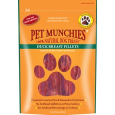 Pet Munchies Dog Treats - Duck Breast Fillets 80g