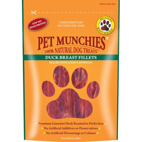 Pet Munchies Dog Treats - Duck Breast Fillets 80g