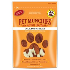 Pet Munchies Dog Treats - Duck Drumsticks 100g