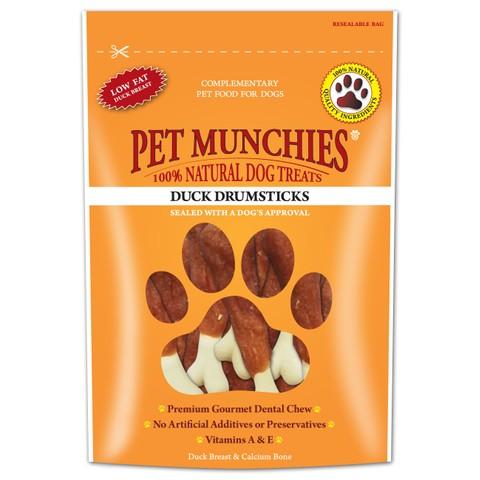 Pet Munchies Dog Treats - Duck Drumsticks 100g