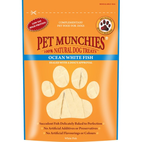 Pet Munchies Dog Treats - Ocean White Fish 100g