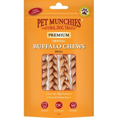 Pet Munchies Dog Buffalo Chews Small 4pk