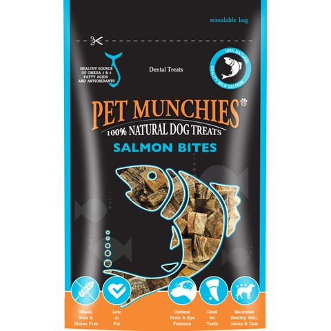 Pet Munchies Wild Salmon Bites Dog Treats