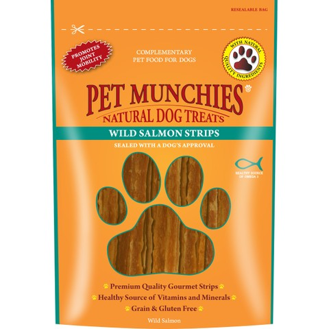 Pet Munchies Dog Treats - Wild Salmon Strips 80g